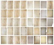 Papeles viejos fijados Imagen de archivo libre de regalías