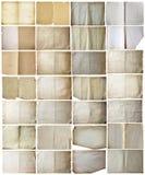 Papeles viejos fijados aislados Imagen de archivo