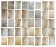Papeles viejos fijados aislados Foto de archivo libre de regalías