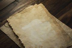 Papeles viejos, textura de madera marrón Foto de archivo libre de regalías