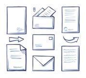 Papeles y documentación de la oficina en vector del sobre libre illustration