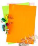 Papeles y papeles del color Fotos de archivo libres de regalías