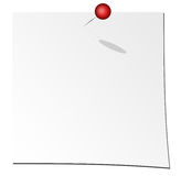 Paper. White paper over white background with red pin Stock Photo