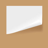 Paper. White sheet of paper of selfgluing Stock Images