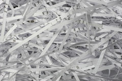 Paper. Old documents can be shredded and recycled again Royalty Free Stock Photography