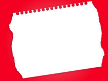 Paper. Torn paper in red background Royalty Free Stock Photography