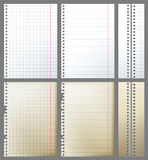 Paper. New and old paper pages over gray background Royalty Free Stock Image