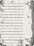 Paper. Grungy old textured paper with tree and butterflies Royalty Free Stock Images