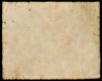 Paper. Texture of dirty grunge paper with black frame royalty free stock photo