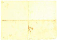Paper. Old yellow paper as empty background Royalty Free Stock Photography