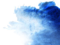 Paper. Abstract blue watercolor hand painted background Stock Image