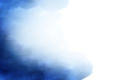 Paper. Blue abstract watercolor background with space for your own text Royalty Free Stock Photos