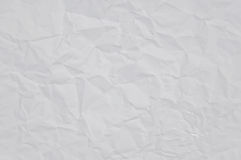 Paper. Crinkled sheet of white paper Royalty Free Stock Photography