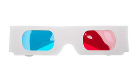 Paper 3D Glasses Royalty Free Stock Photography