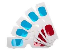 Paper 3D Glasses on white Stock Image