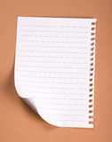 Paper. Lined note paper on textured background royalty free stock image