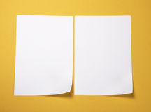 Paper. Plain note paper on textured (yellow)background, Write note on it