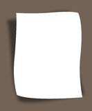 Paper. Plain note paper on textured (gray)background Stock Images