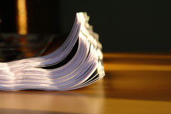 Paper. Pile of paper on the desk in the office Royalty Free Stock Photo