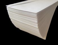 Paper. A stack of envelopes isolated on black Royalty Free Stock Images