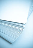 Paper. Thick sheaf of white paper. isolated Stock Photography