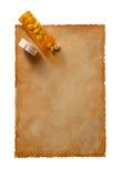 Paper-9 velho Imagens de Stock Royalty Free