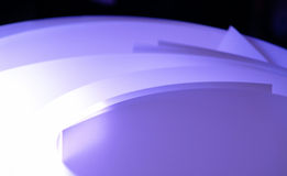 Paper. Lighting according to the paper in the desk Royalty Free Stock Photo