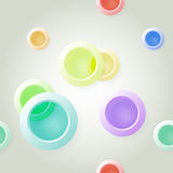 Paper on abstract circle background drop shadows Royalty Free Stock Image