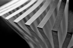 Paper abstract. With folded and cutted paper forms Stock Images
