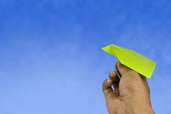 Paper Aeroplane Royalty Free Stock Photos
