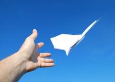 Paper aeroplane Royalty Free Stock Photography