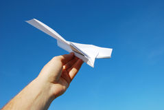 Paper aeroplane Royalty Free Stock Images