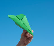 Paper aeroplane Royalty Free Stock Photo