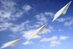 Paper Aeroplane Motion Royalty Free Stock Image