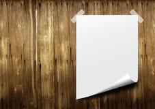 paper affischwhite Arkivfoto