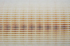 Paper air filter texture for car engines. Here it is the texture for an air filter made of thick paper, used in auto industry for car engines Stock Images