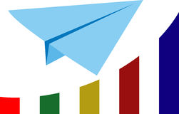 Paper aircraft. Of  illustration Royalty Free Stock Image