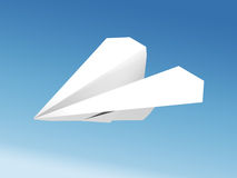 Paper airplane. Against the blue sky Stock Photos