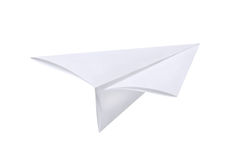 Paper airplane. Isolated on white Royalty Free Stock Images