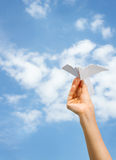 Paper airplane Royalty Free Stock Photos