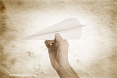 Paper airplane Stock Image