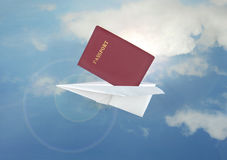 Paper Airplane Royalty Free Stock Photography