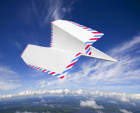 Paper airplane, airmail concept Royalty Free Stock Image
