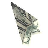 Paper airplane from the dollars Royalty Free Stock Image