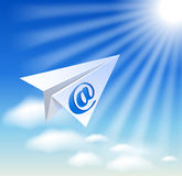 Paper airplane with e-mail sig Stock Image
