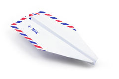Paper airplane email concept Stock Images