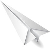 Paper airplane flying Stock Images