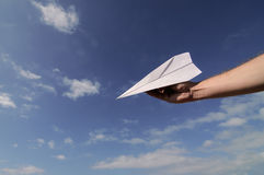 Paper Airplane Stock Photography