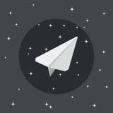 Paper airplane icon Stock Photos