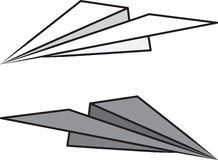 Paper Airplane Isolated Stock Images